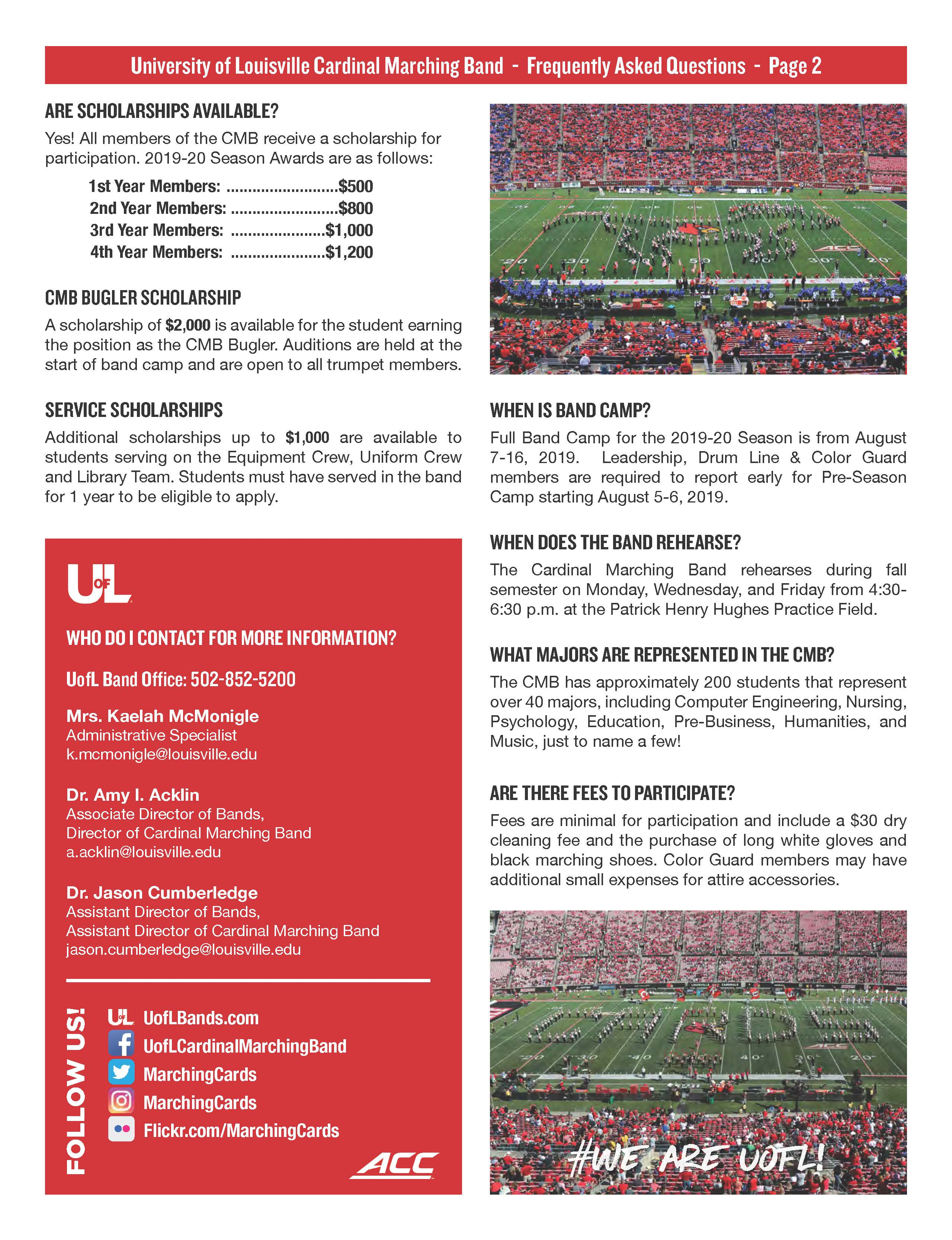 Marching Cards | UofL Bands